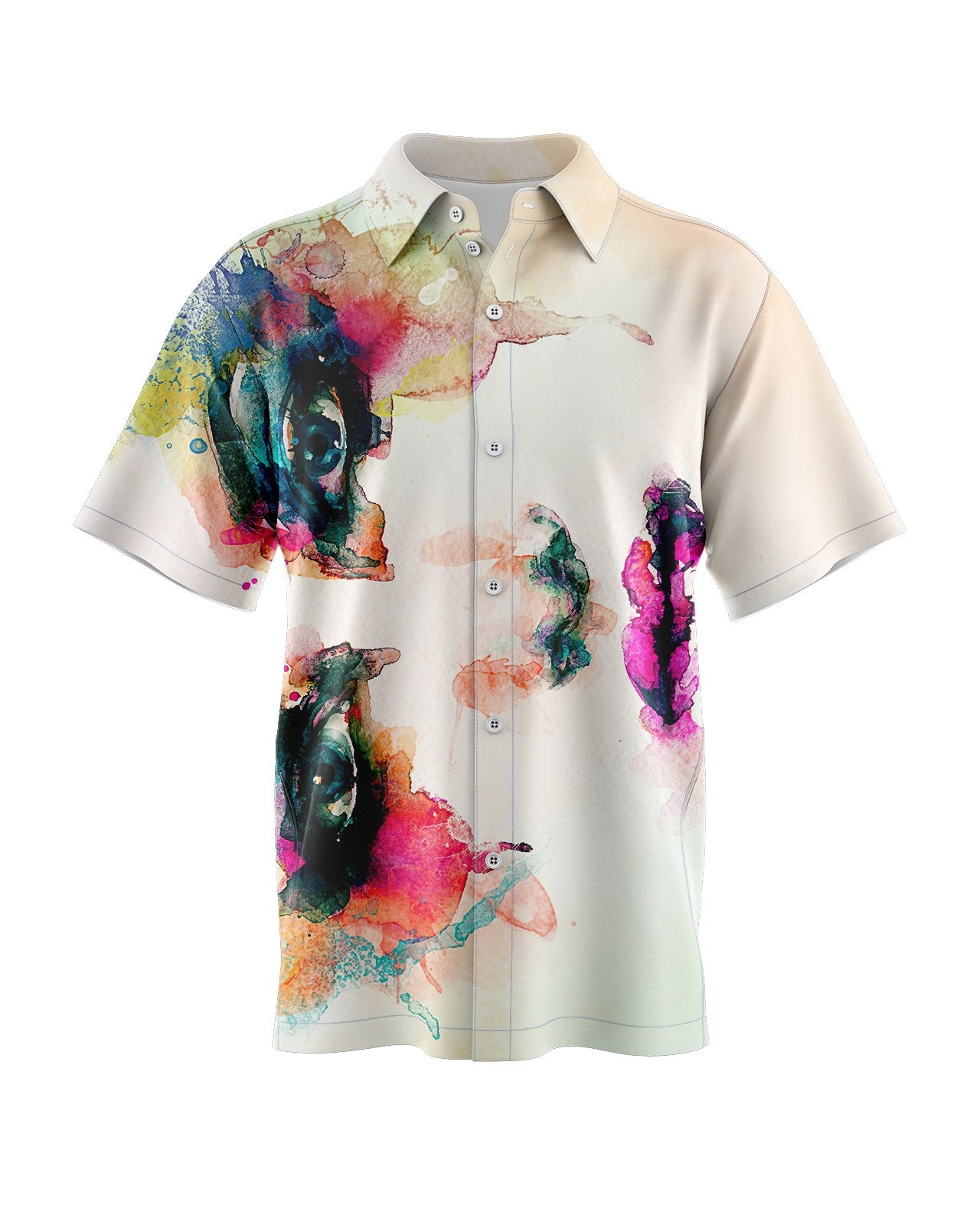 Watercolor Dream Button Up Shirt
