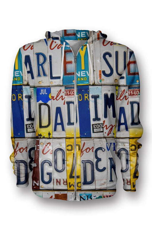 Chads Plates printed all over in HD on premium fabric. Handmade in California.