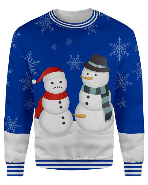 Nose Thief Snowman Ugly Sweater printed all over in HD on premium fabric. Handmade in California.