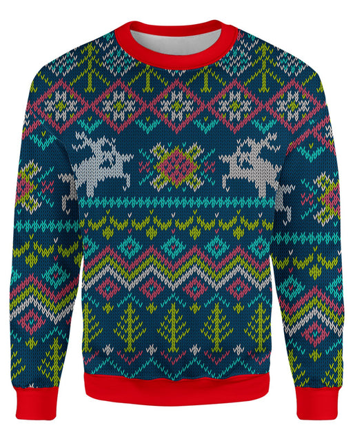 Deer Lovers Ugly Sweater printed all over in HD on premium fabric. Handmade in California.