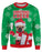 Christmas Cheer with Pug Ugly Sweater printed all over in HD on premium fabric. Handmade in California.