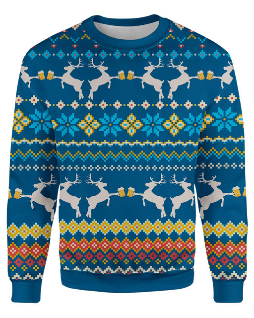 Caribrew Ugly Sweater printed all over in HD on premium fabric. Handmade in California.