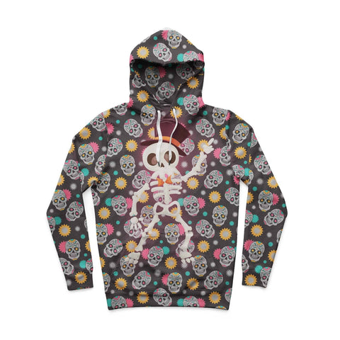 Disco Skeleton Hoodie by All Over Shirts