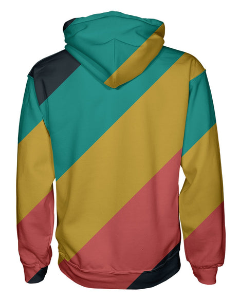CMYK Muted Stripes Pullover Hoodie