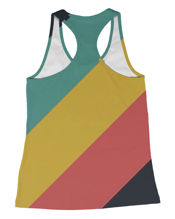 CMYK Muted Stripes Racerback-Tank