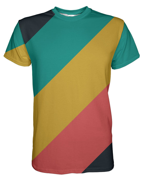 CMYK Muted Stripes printed all over in HD on premium fabric. Handmade in California.