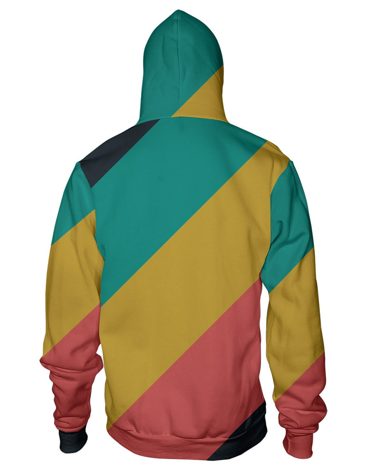 CMYK Muted Stripes Zip Hoodie
