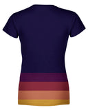 Autumn Stripes Womens T-shirt