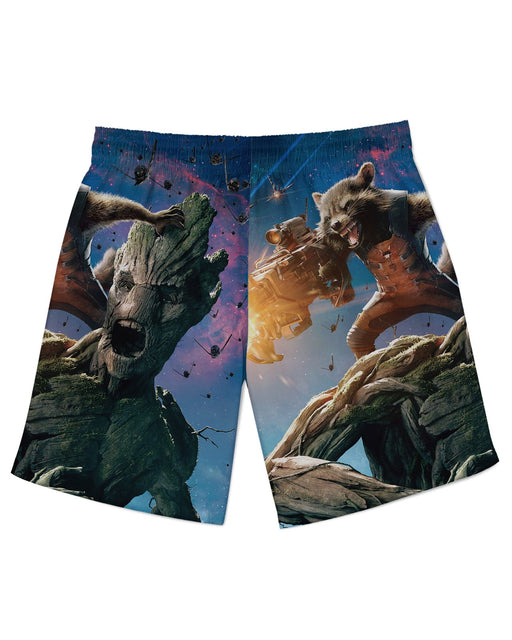Groot and Rocket Raccoon Athletic Shorts