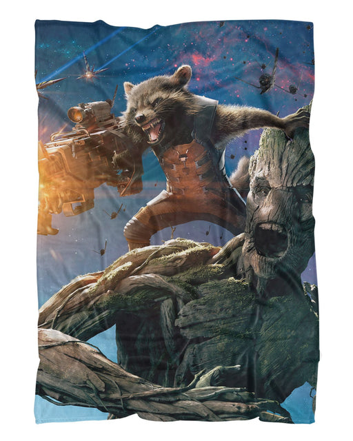 Groot and Rocket Raccoon Fluffy Blanket