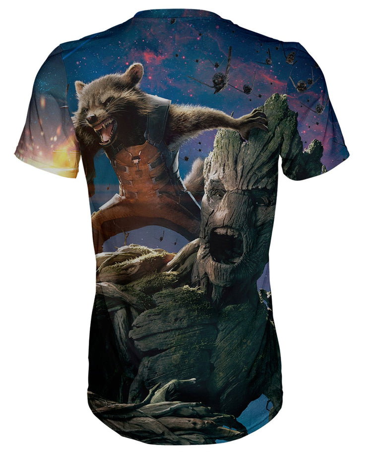 Groot and Rocket Raccoon T-shirt