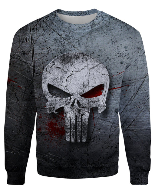 The Punisher printed all over in HD on premium fabric. Handmade in California.