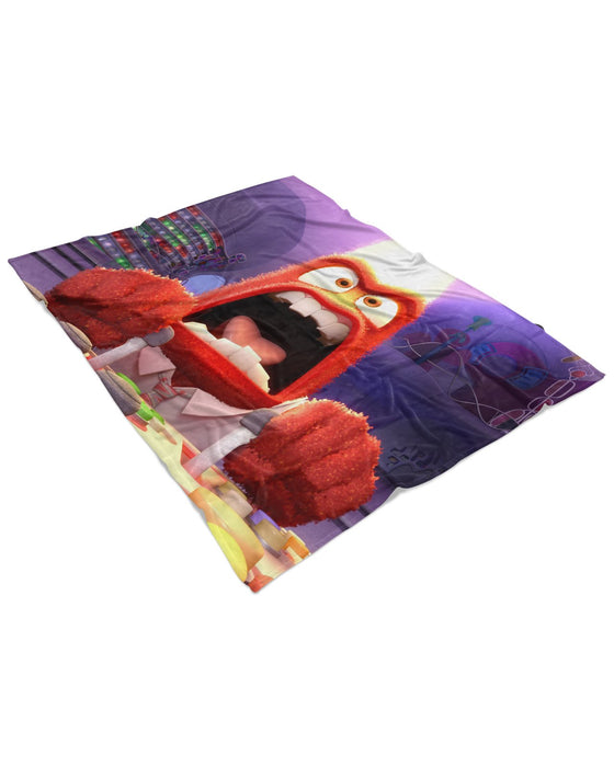 Anger Inside Out Fluffy Blanket