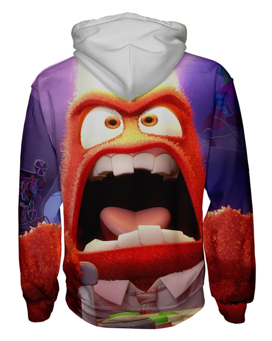 Anger Inside Out Zip Hoodie