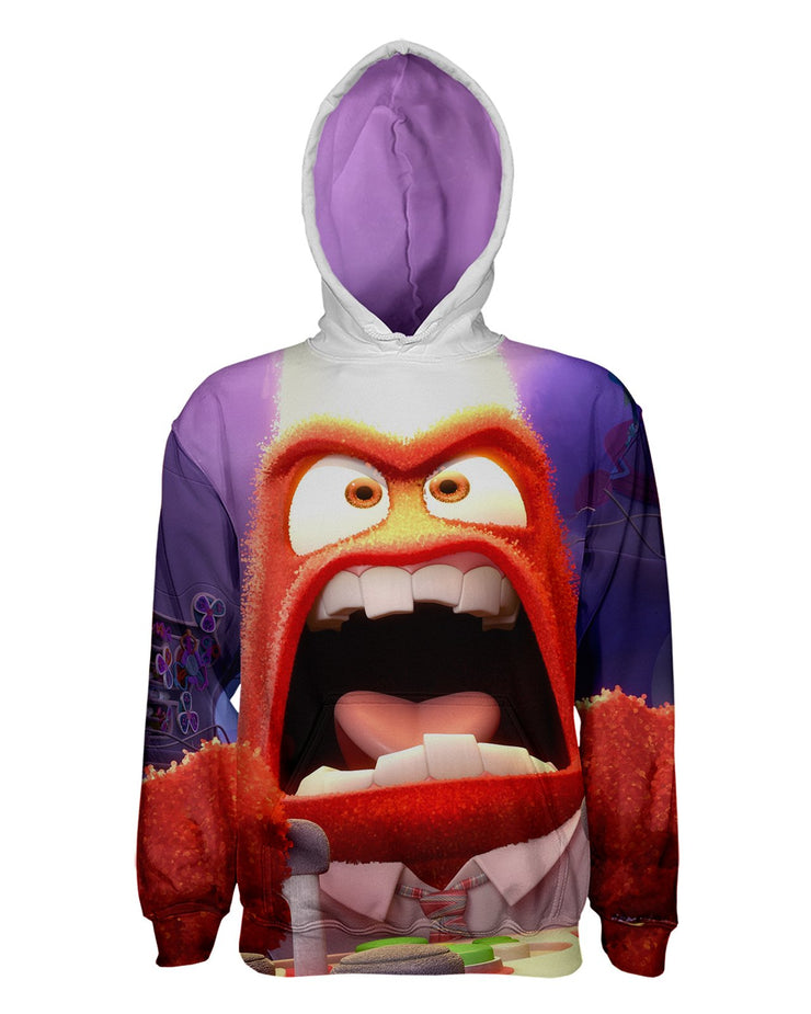 Anger Inside Out Pullover Hoodie Fauxro Pullover Hoodie