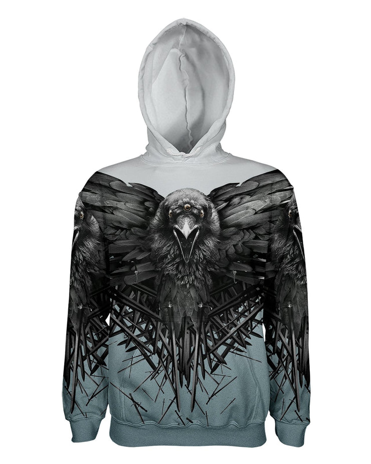 Game of Thrones Raven Pullover Hoodie