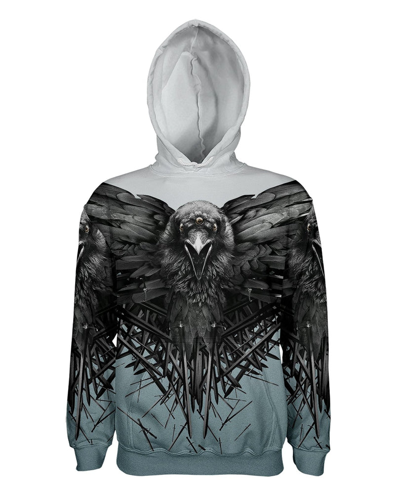 Game of Thrones Raven printed all over in HD on premium fabric. Handmade in California.