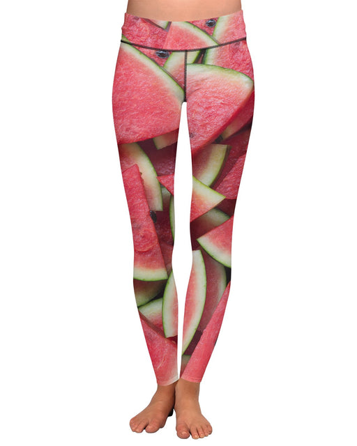 Watermelon Sliced Yoga Leggings