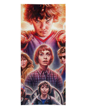 Stranger Things Faces Beach Towel