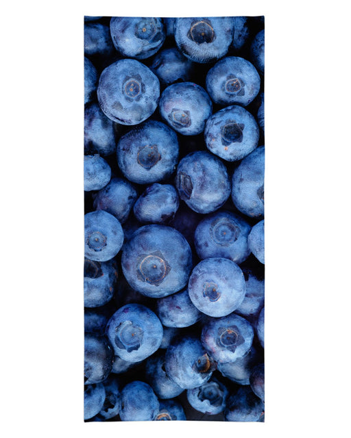 Blueberries printed all over in HD on premium fabric. Handmade in California.