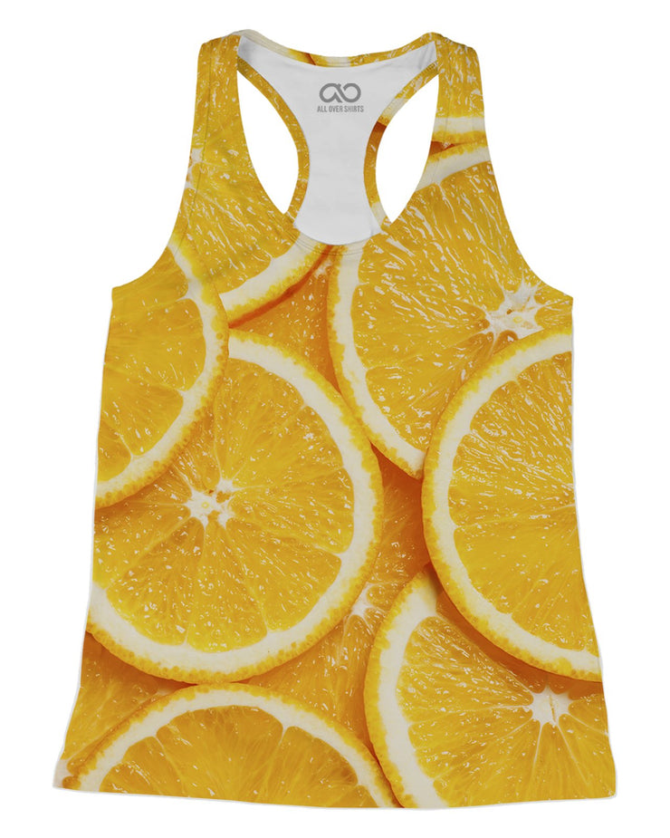Orange Slices printed all over in HD on premium fabric. Handmade in California.
