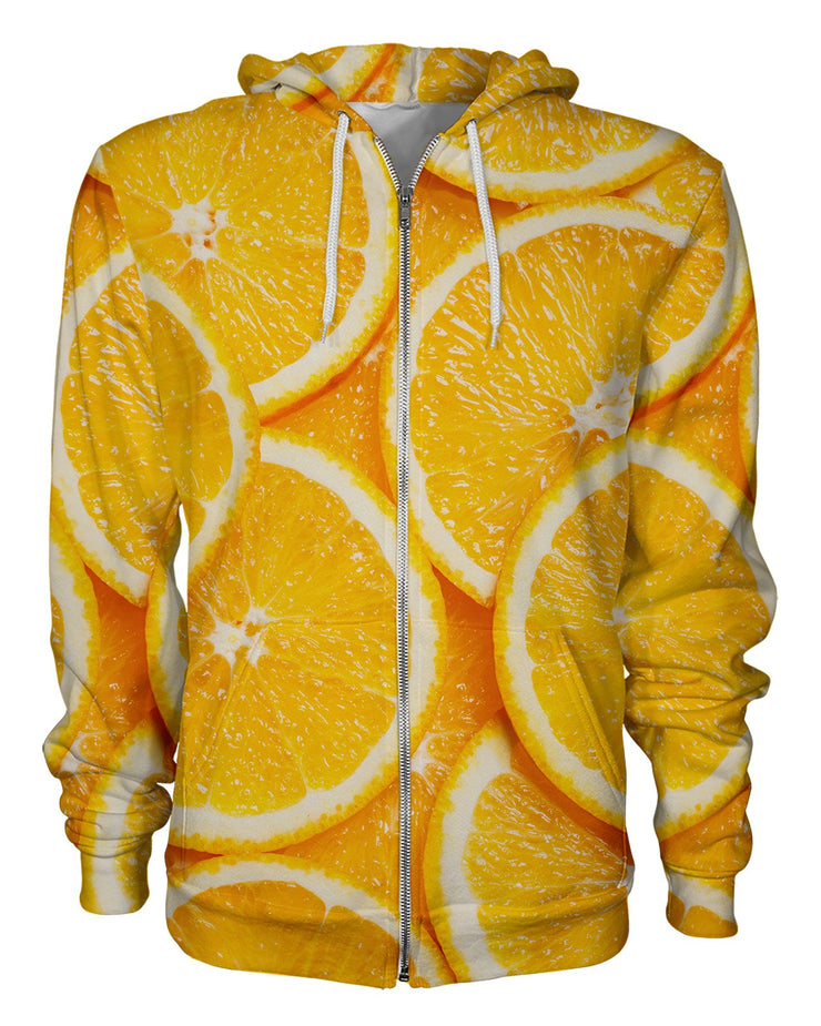 Orange Slices Women's Zip Hoodie