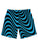 Wavy Lines Blue Athletic Shorts
