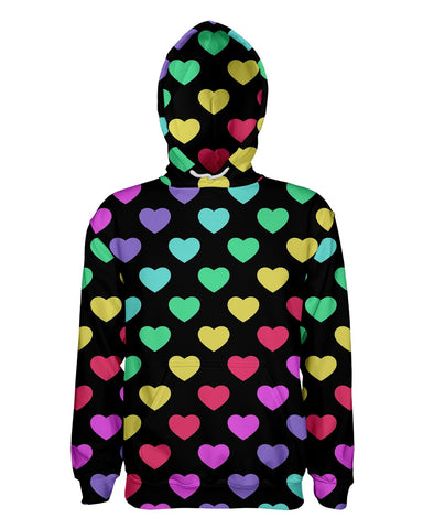 Rainbow Hearts printed all over in HD on premium fabric. Handmade in California.
