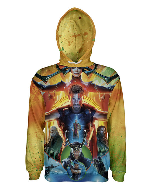 Thor Ragnarok printed all over in HD on premium fabric. Handmade in California.