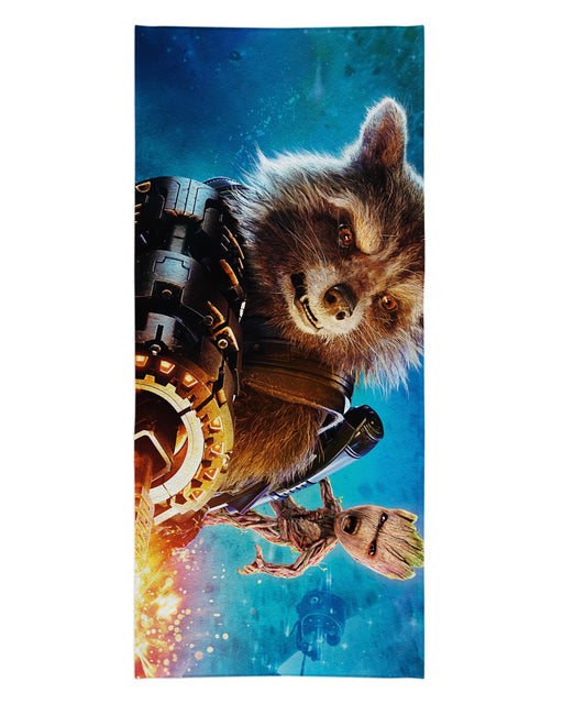 Rocket Raccoon printed all over in HD on premium fabric. Handmade in California.