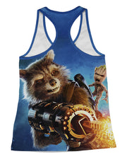 Rocket Raccoon Racerback-Tank