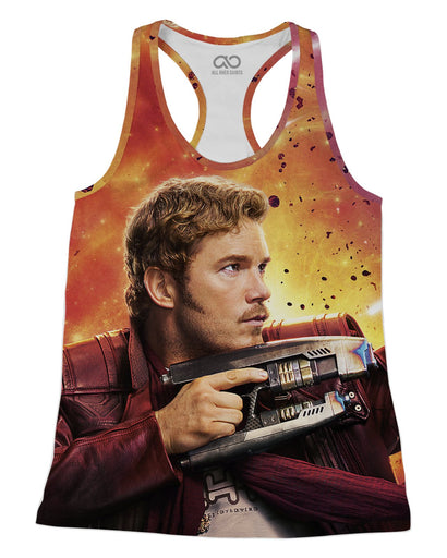 Star Lord Chris Pratt printed all over in HD on premium fabric. Handmade in California.