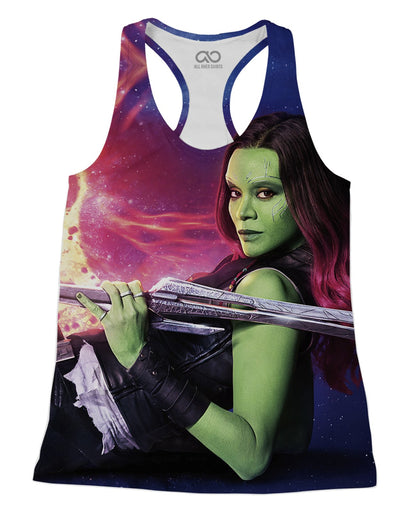 Gamora printed all over in HD on premium fabric. Handmade in California.
