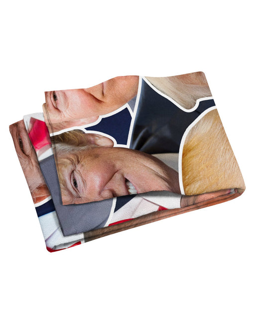 Donald Trump Face Beach Towel