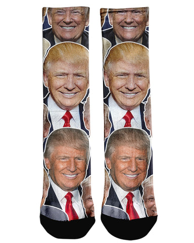 Donald Trump Face printed all over in HD on premium fabric. Handmade in California.