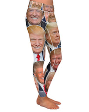 Donald Trump Face Yoga Leggings