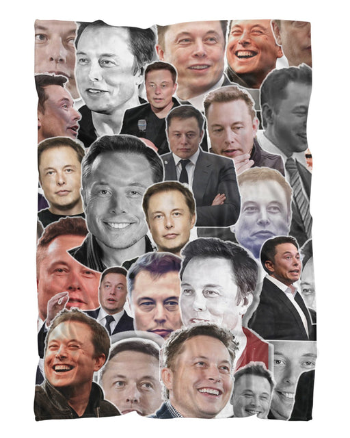 Elon Musk printed all over in HD on premium fabric. Handmade in California.