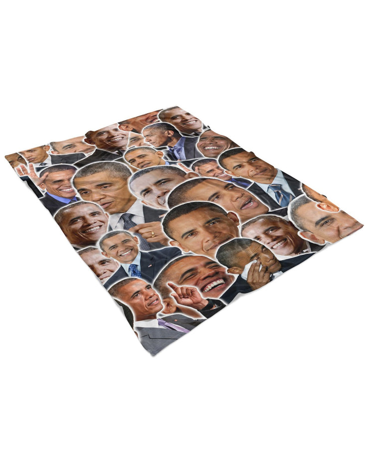 Barack Obama Fluffy Blanket
