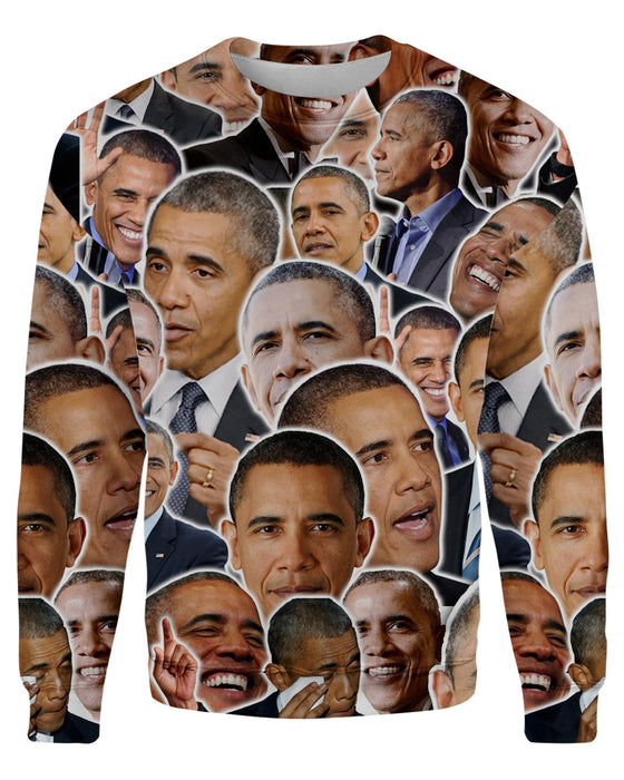 Barack Obama printed all over in HD on premium fabric. Handmade in California.