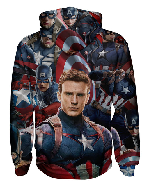 Captain America Face Pullover Hoodie