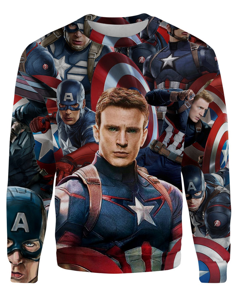 Captain America Face printed all over in HD on premium fabric. Handmade in California.