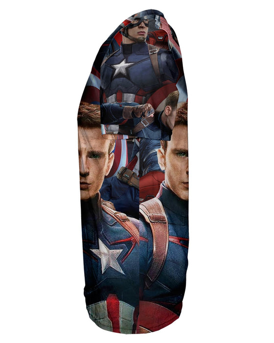 Captain America Face T-shirt