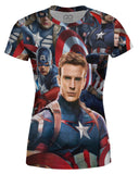 Captain America Face Women's T-shirt