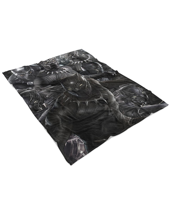 Black Panther Fluffy Blanket