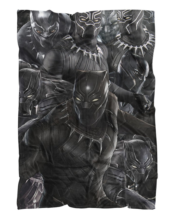 Black Panther printed all over in HD on premium fabric. Handmade in California.
