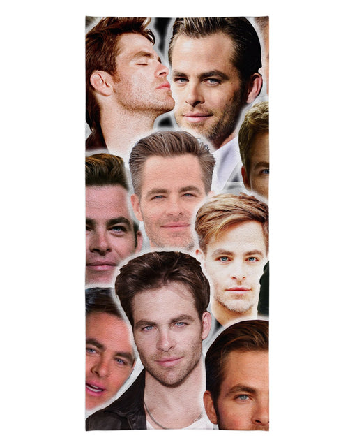 Chris Pine printed all over in HD on premium fabric. Handmade in California.
