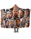 Michael B Jordan Hooded Blanket