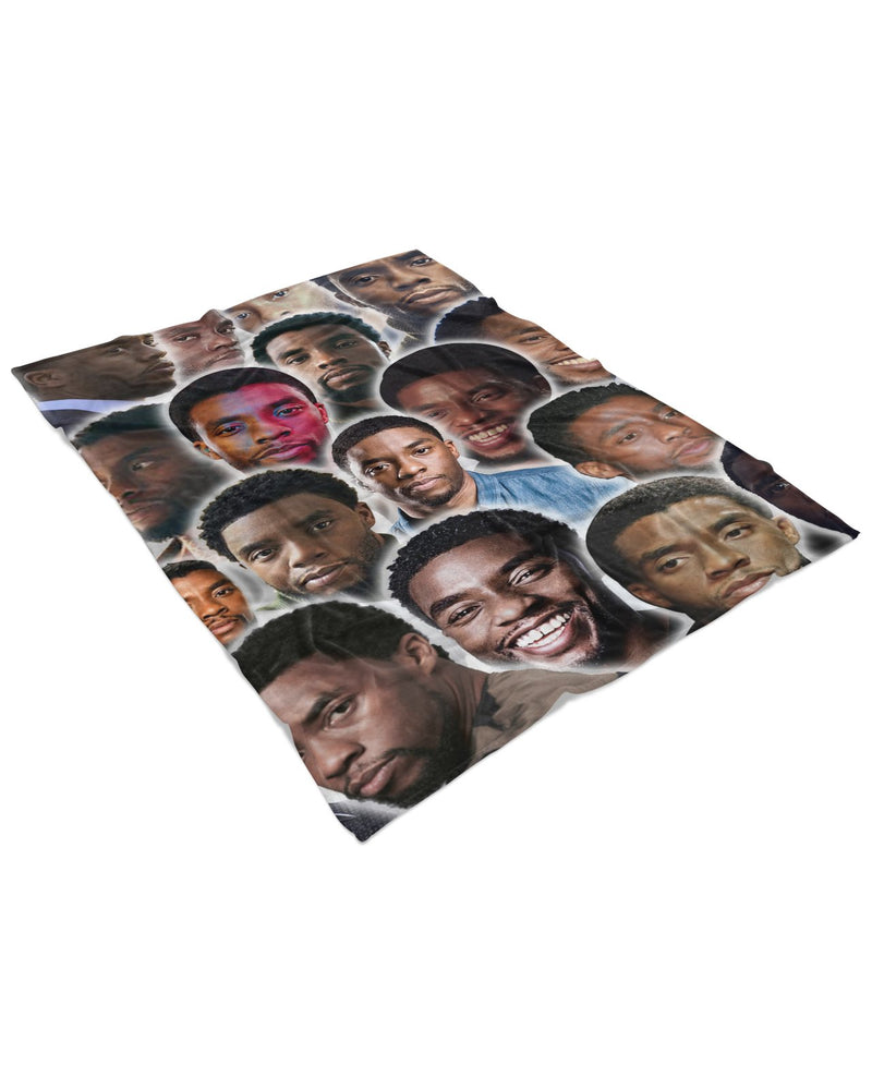 Chadwick Boseman printed all over in HD on premium fabric. Handmade in California.