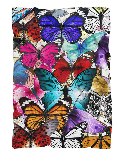 Colorful Butterflies printed all over in HD on premium fabric. Handmade in California.