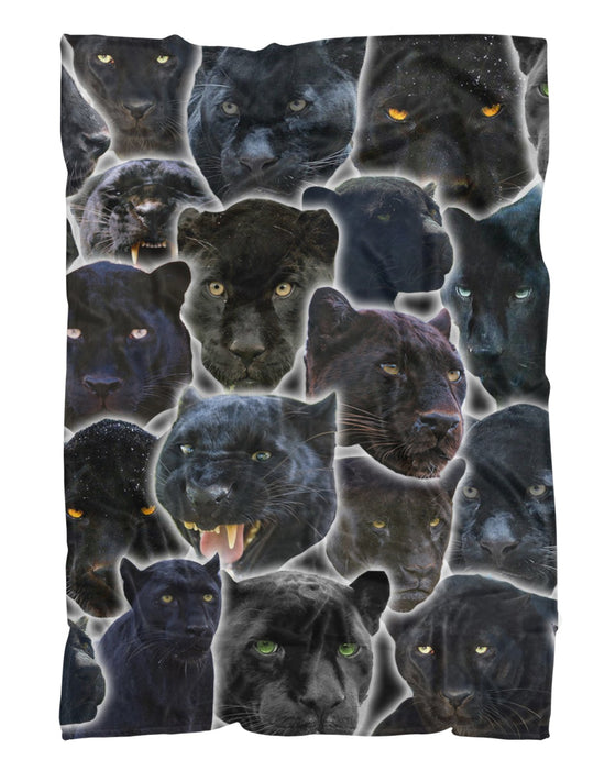 Black Panther Animal printed all over in HD on premium fabric. Handmade in California.